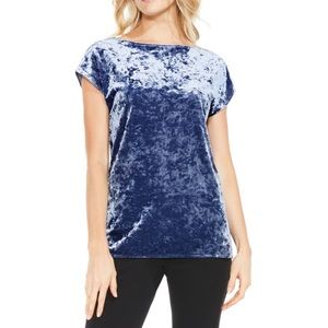 Vince Camuto Crushed Velvet Knit Tee NWT